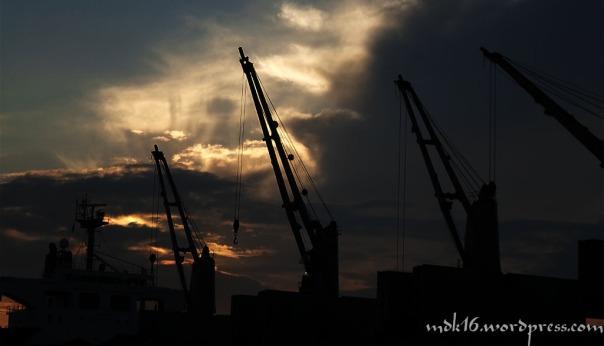 sunset diatas kapal